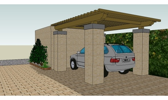 3D-visualisatie carport