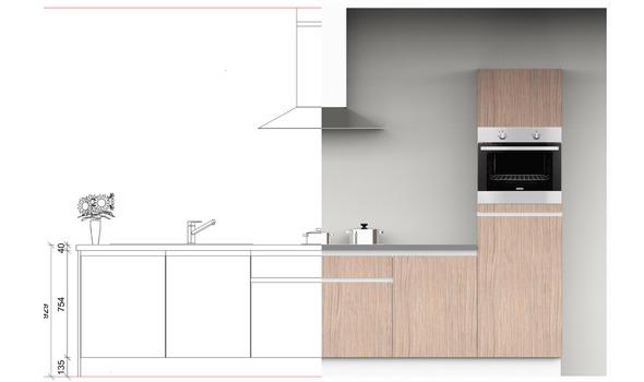 2D - 3D tekening io van Eurosun Keukens