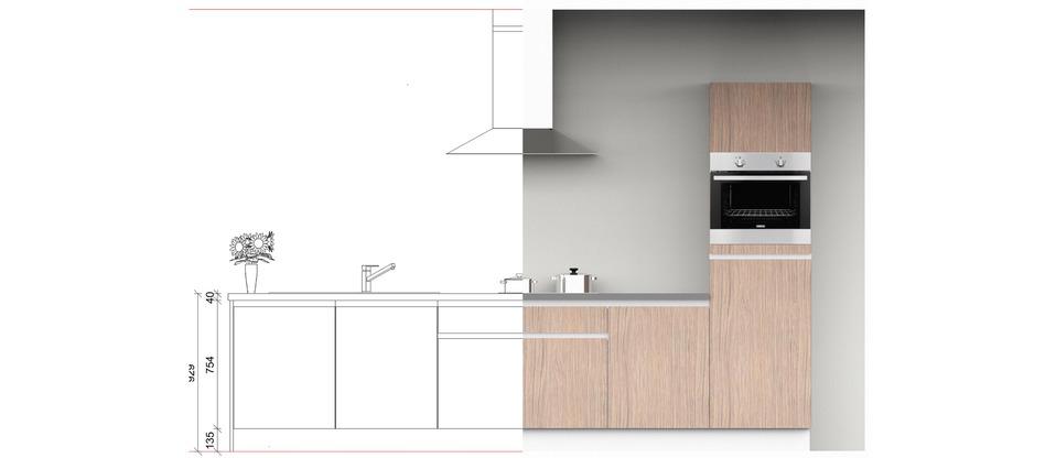 2D - 3D keuken