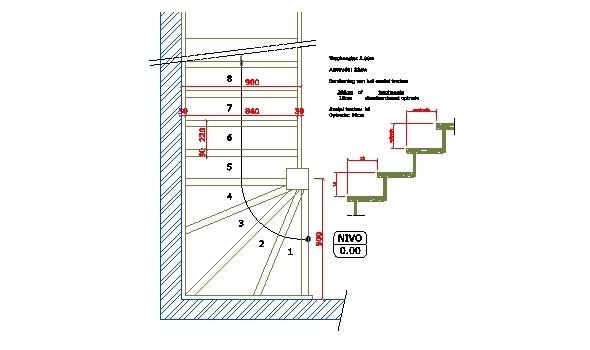 Technische tekeningen tekenbureau td office - Hoe een trap te kleden ...